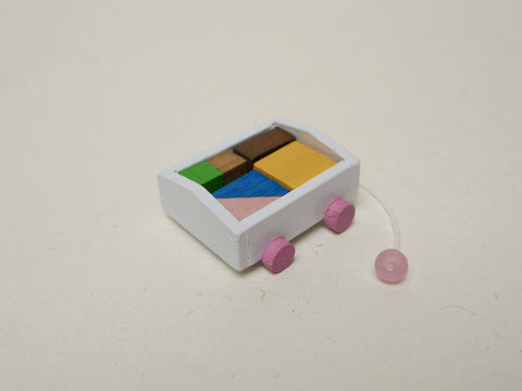 Toy Blocks in Wagon