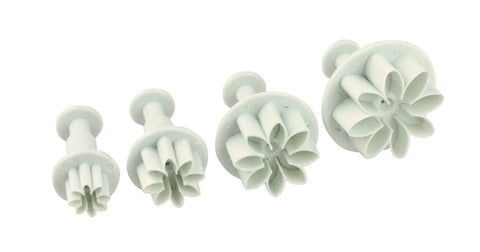 4pcs Spiked Petals Flowers Push Cutters Set