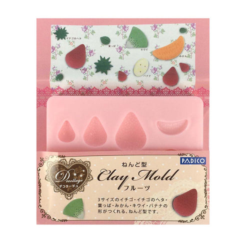 PADICO Decollage Clay Mold - Fruits