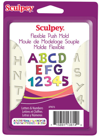 Sculpey Push Mold - Letters and Numbers