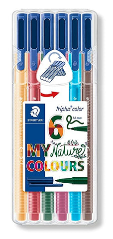 STAEDTLER Triplus Color 6 My Nature Colours 1.0mm