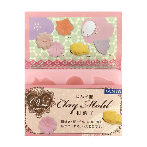 PADICO Decollage Clay Mold - Japanese Sweets