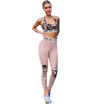 Pink Camouflage Suit Fitness And Yoga Set