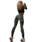 Woman Fitness Suit Camouflage Top + Leggings