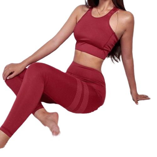 Fitness Set Bra + Long Workout Leggings (High-Quality)