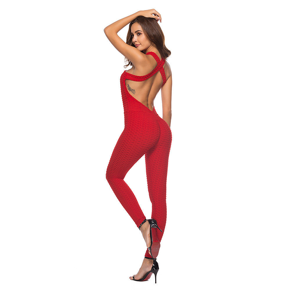 Sexy Fitness And Yoga One-piece Sports Suit Set