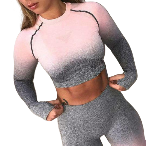 Women Fitness And Yoga Set (Gradient Suit)