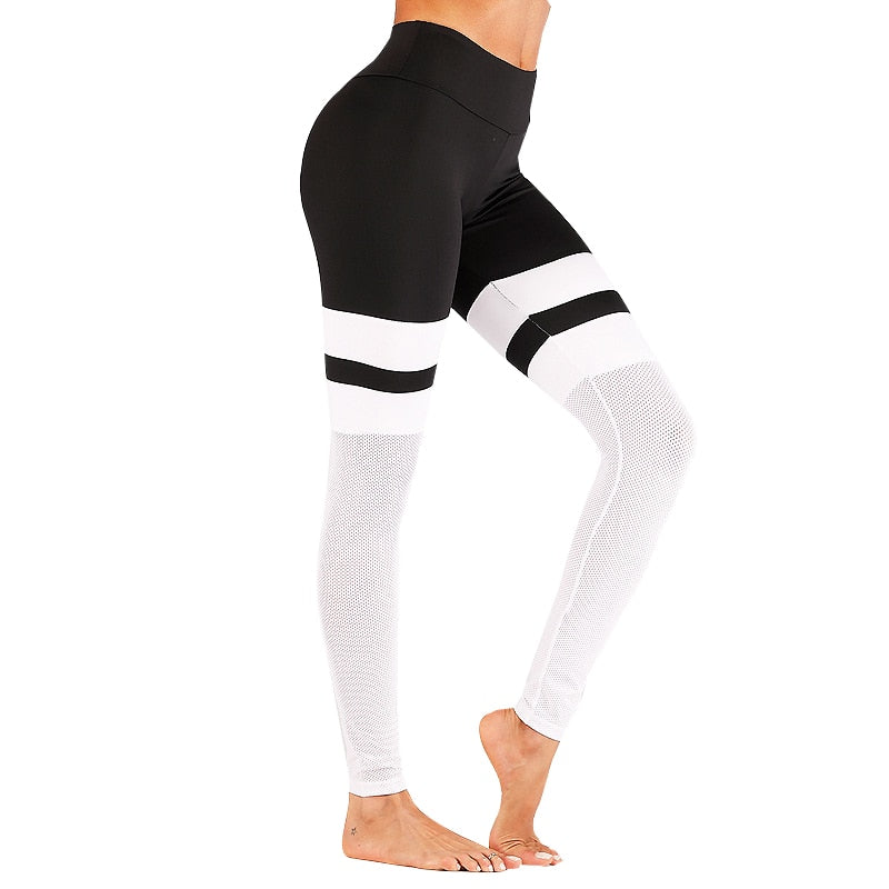 Black/White Yoga Pants