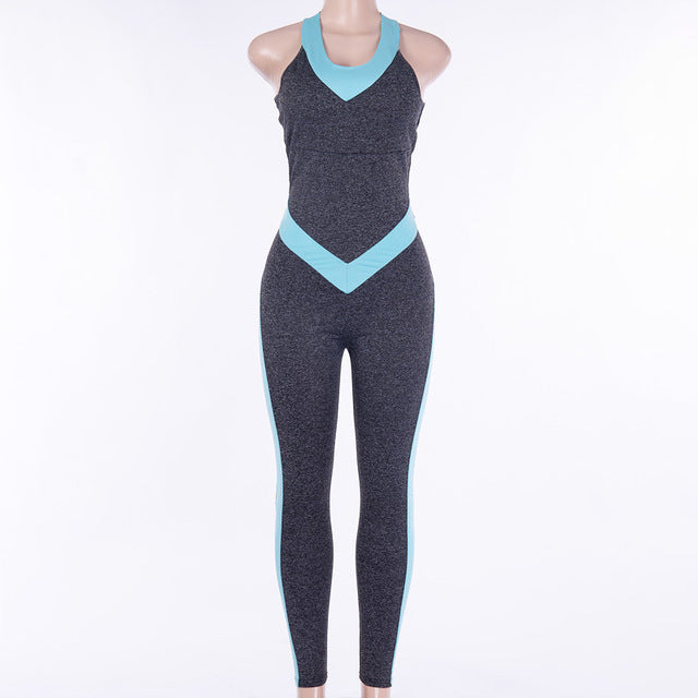 Yoga / Fitness  Jumpsuit Dry Fit Push Up