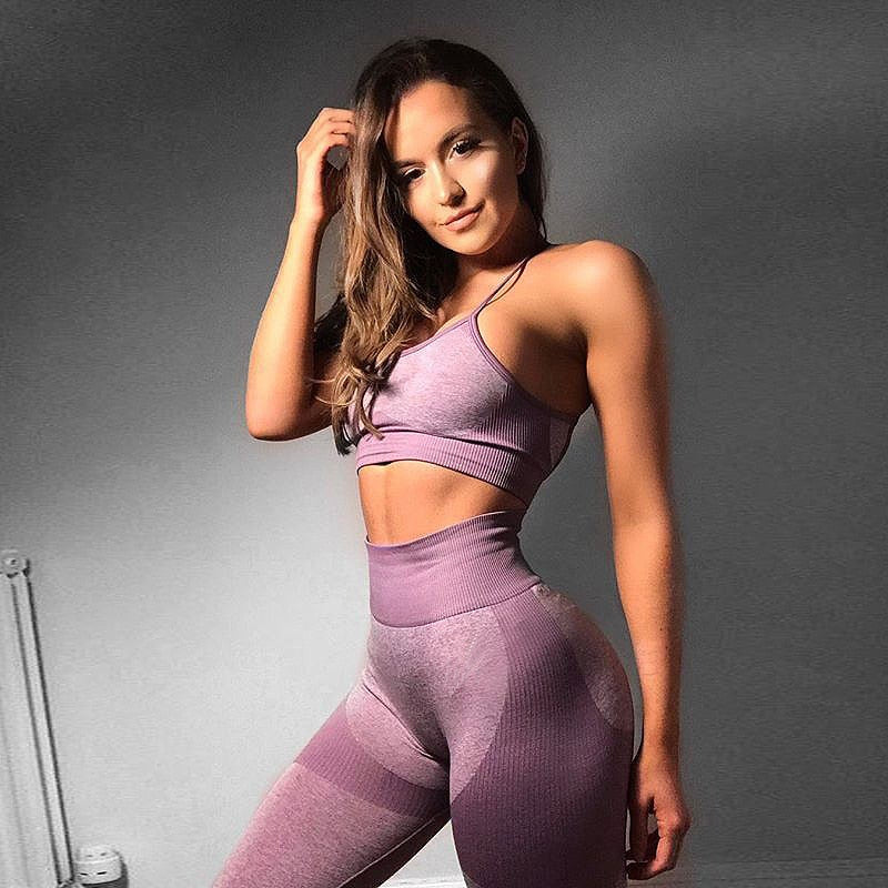 Energy Seamless Set Bra Top+High Waist Leggings