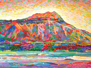 DIAMOND HEAD CLASSIC - Giclee on Canvas Print
