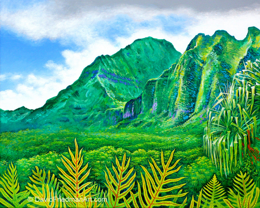 PALI PASS - Giclee on Canvas Print