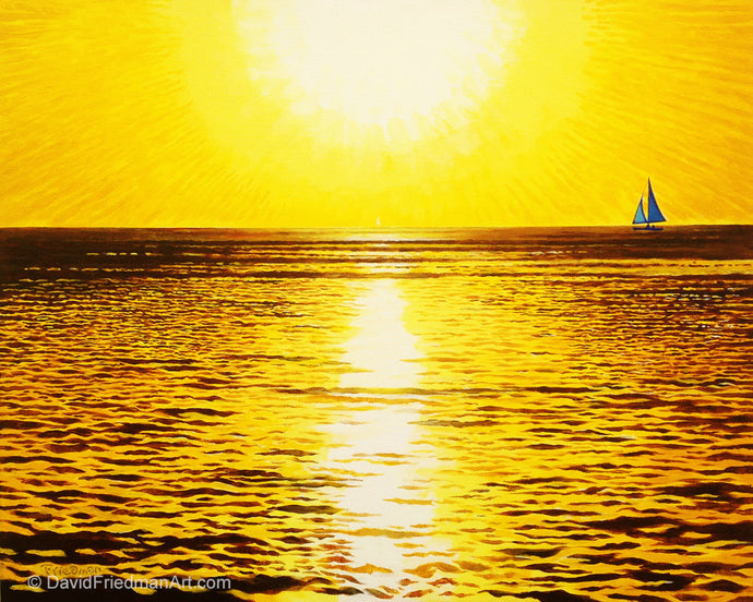 SAILING YELLOW - Original 24