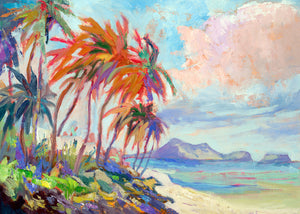 "LANIKAI PALMS- Original  12"" x 16"""