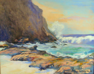 "WEST MAUI SHOREBREAK - Original  16"" x 20"""
