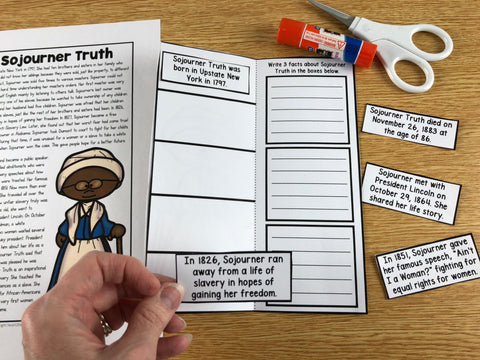 Make a Character Mini booklet to Celebrate Women's History Month Activities for Kids