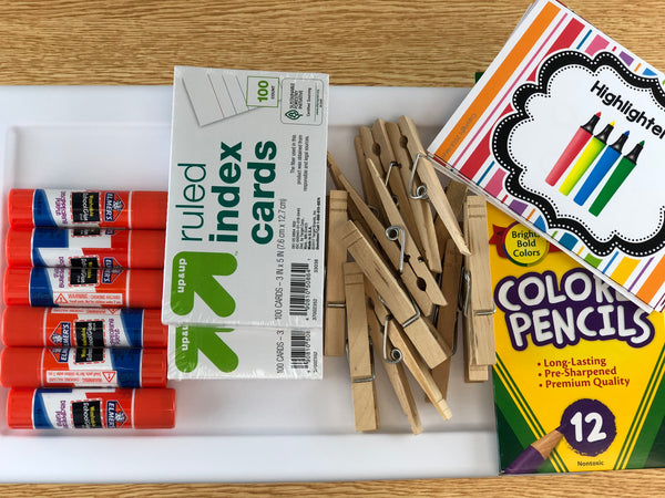 Organize Classroom Supplies