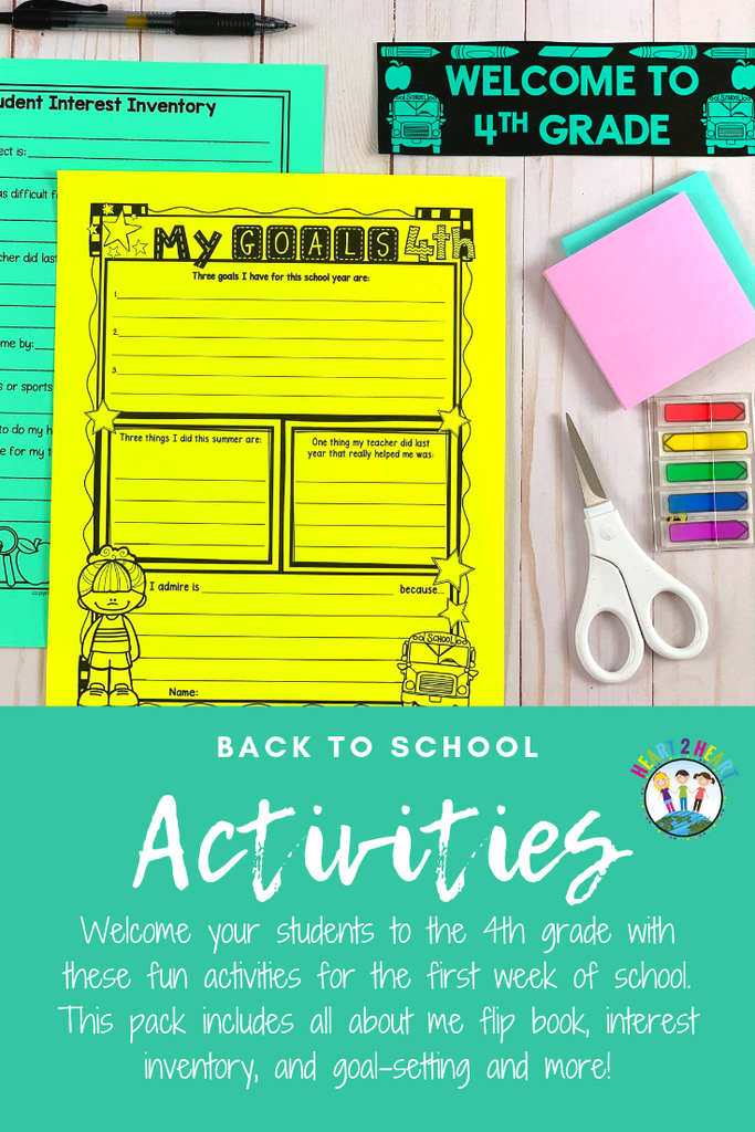 back to school activities for fourthgrade