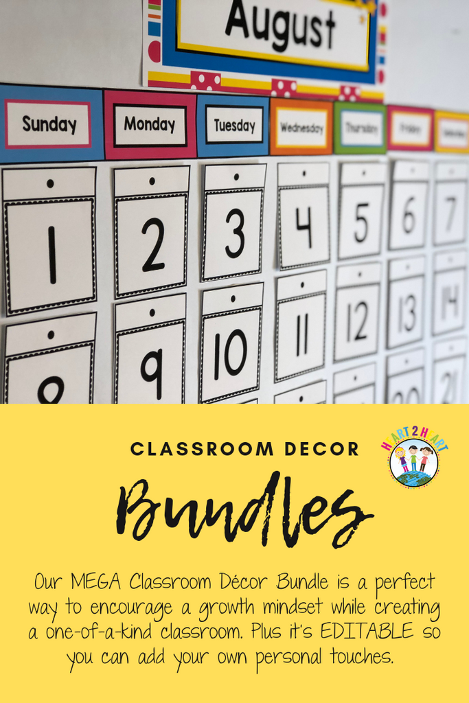 Classroom calendar kit for teachers