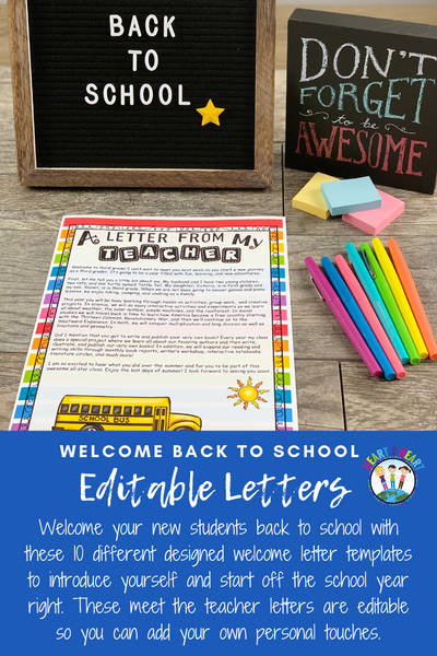 Back to School Letters to Students