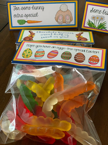Gummy Worms Treat Bags