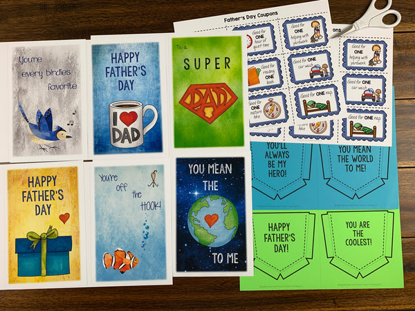 FAther's Day Cards and Coupons Pack