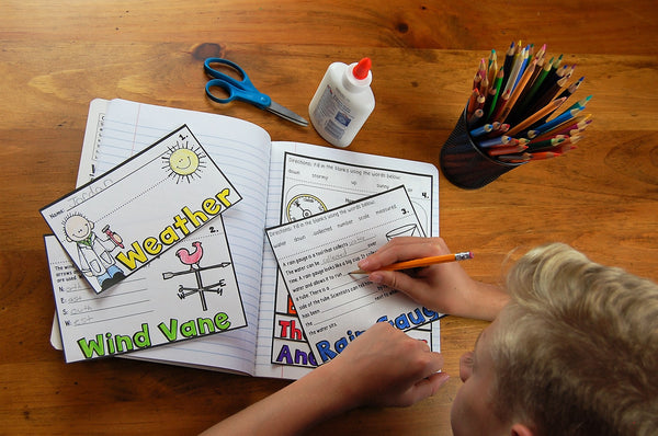 Weather Instruments flip book for kids