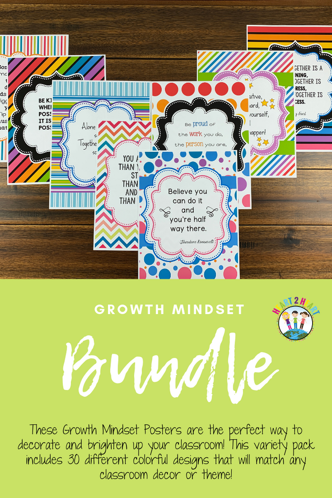 Growth mindset freebie poster pack for teachers