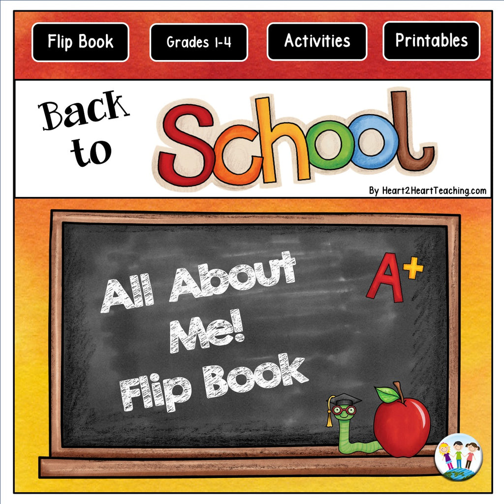 All About Me Flip Book: A FUN Back to School Activity
