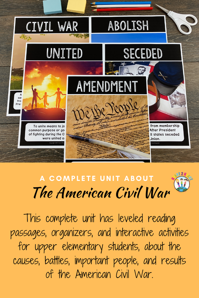 American Civil War Complete Unit with Abraham Lincoln, Harriet Tubman, Clara Barton