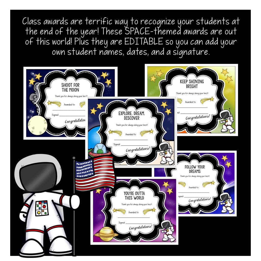 Out of this World Class Awards for the End of the Year