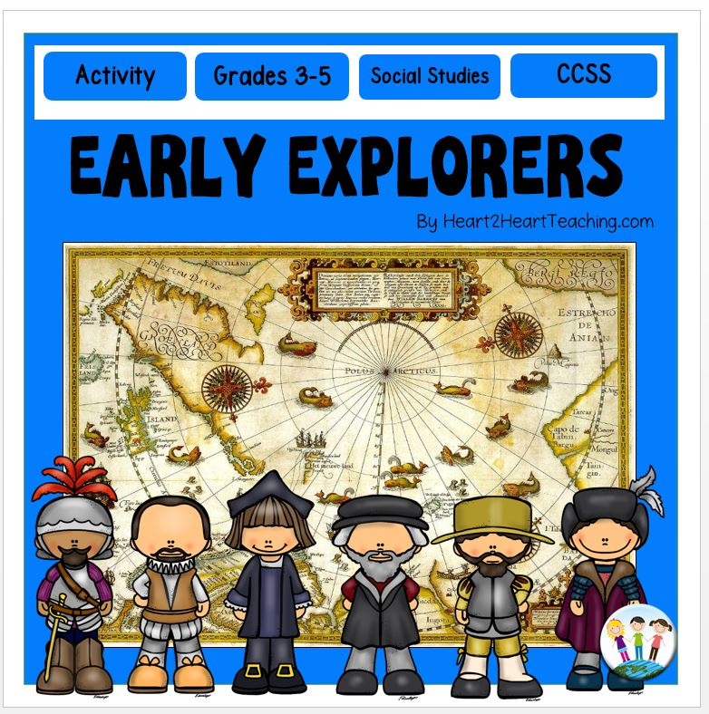 Early European Explorers #1: Cabot, Balboa, de Soto, Columbus, Hudson, Cartier, Leon