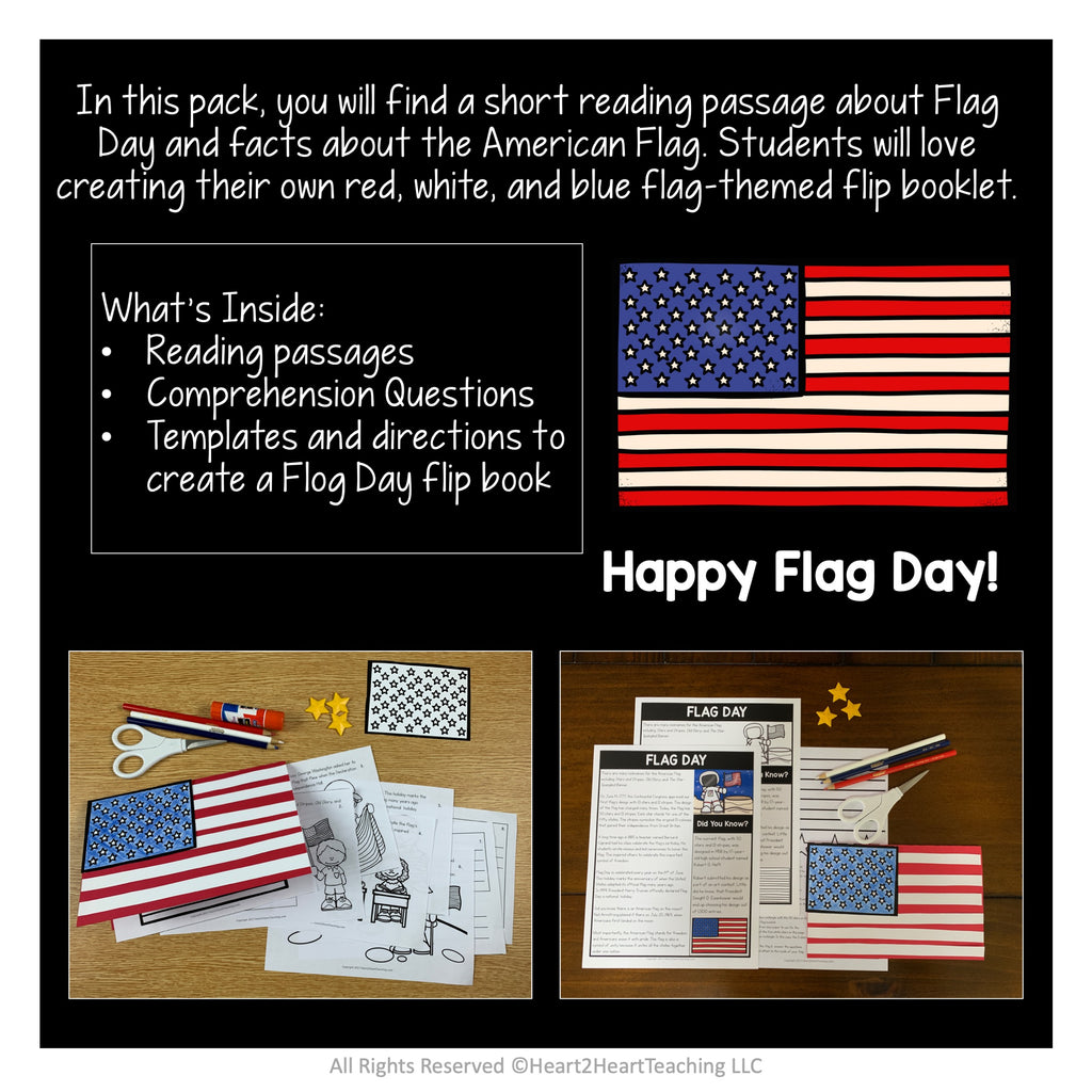 Flag Day Activities: Create a Flag Flip Up Booklet