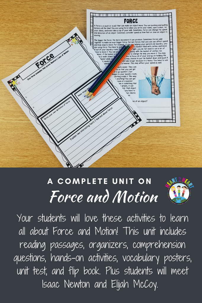 Force and Motion Activity Pack with Issac Newton & Elijah McCoy