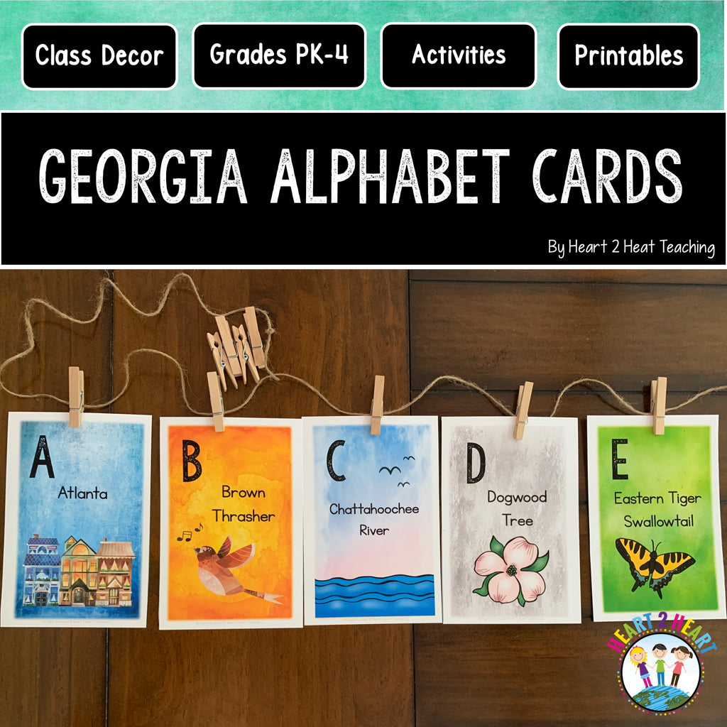 Alphabet Cards with Georgia State Symbols
