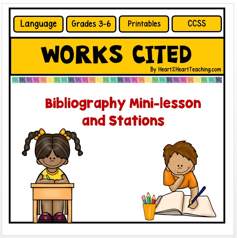 Works Cited Activities- Mini-lessons and Station Work