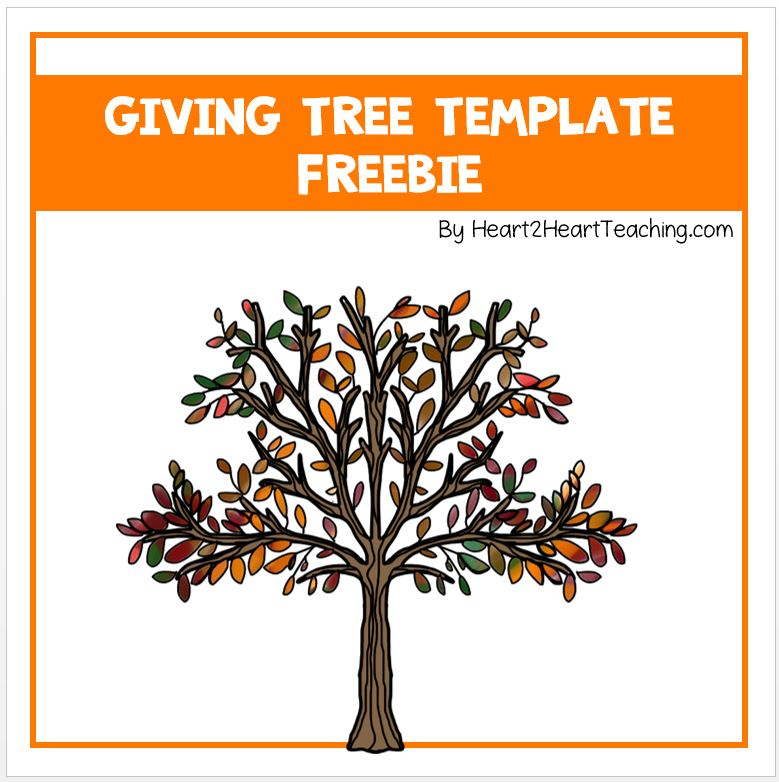Giving Tree  Classroom Donation Freebie