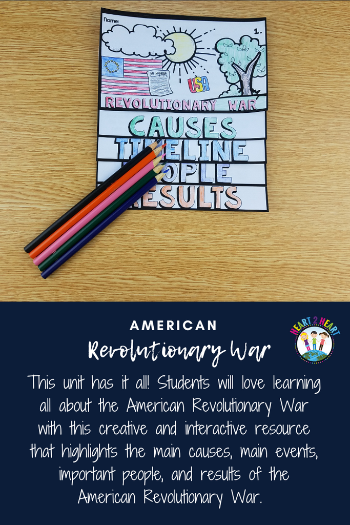 Revolutionary War Unit with Articles, Activities, & more