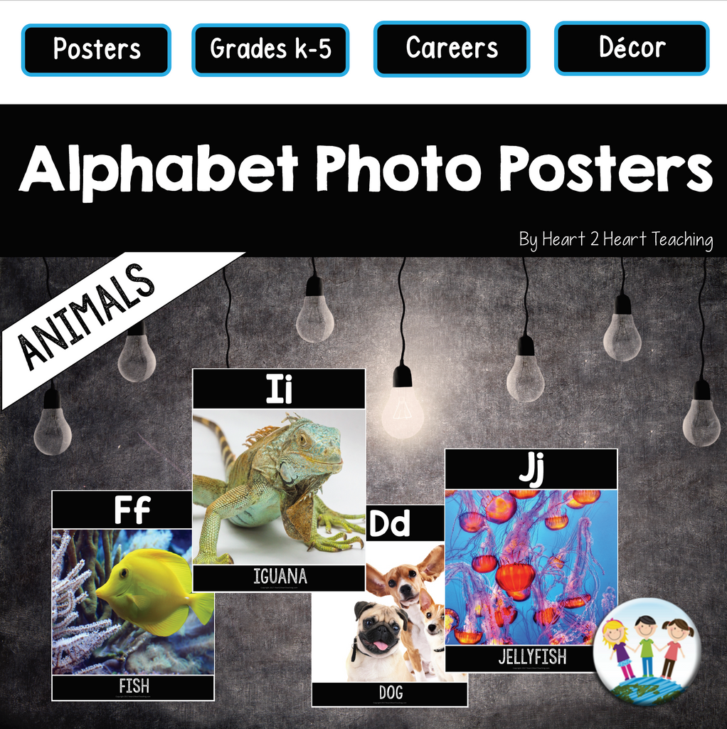 Alphabet Posters: Animals (A to Z)