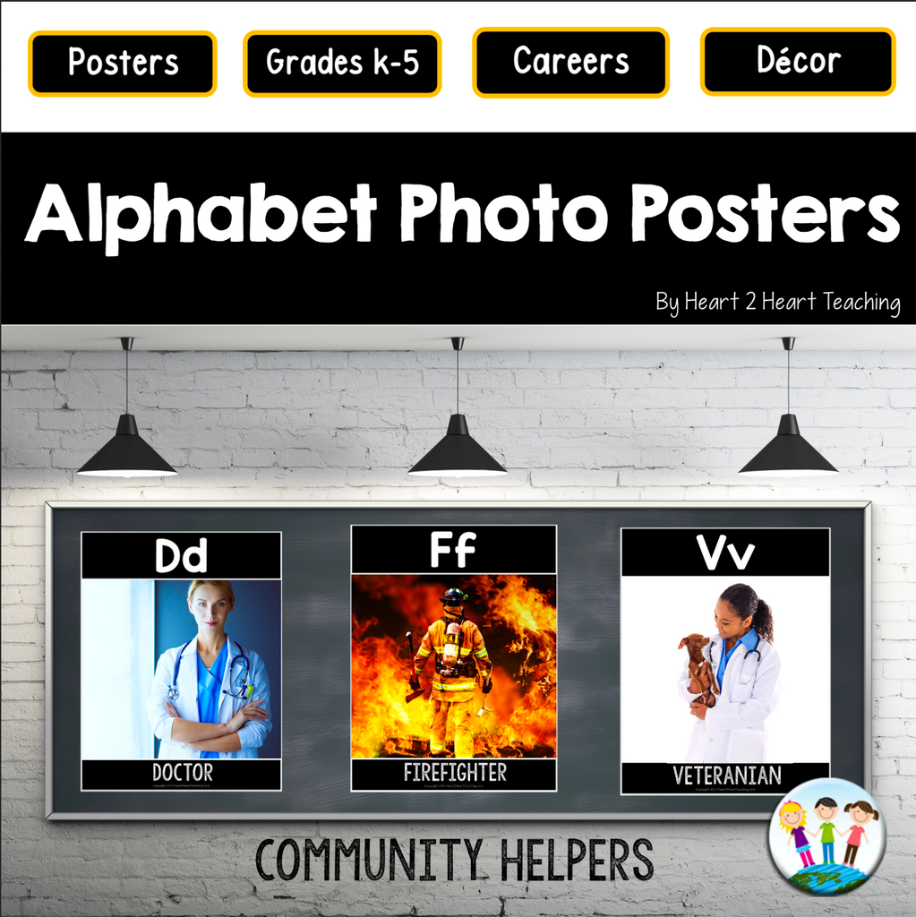 Alphabet Posters: Community Helpers (A to Z)