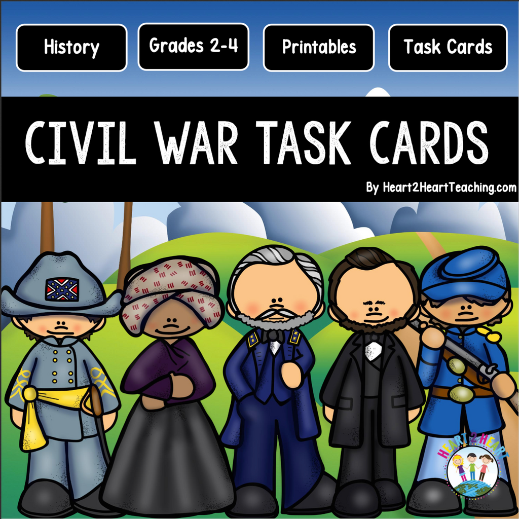 American Civil War Task Cards and Vocabulary Cards