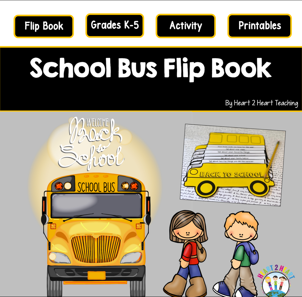 Back to School Activities: Create a School Bus Flip Book