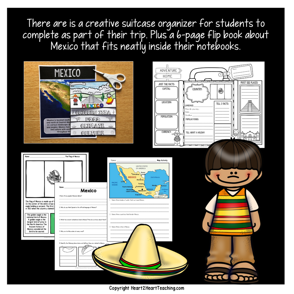 Let's Take a Trip to Mexico: A Country Study with Articles, Activities, Vocabulary & Craft