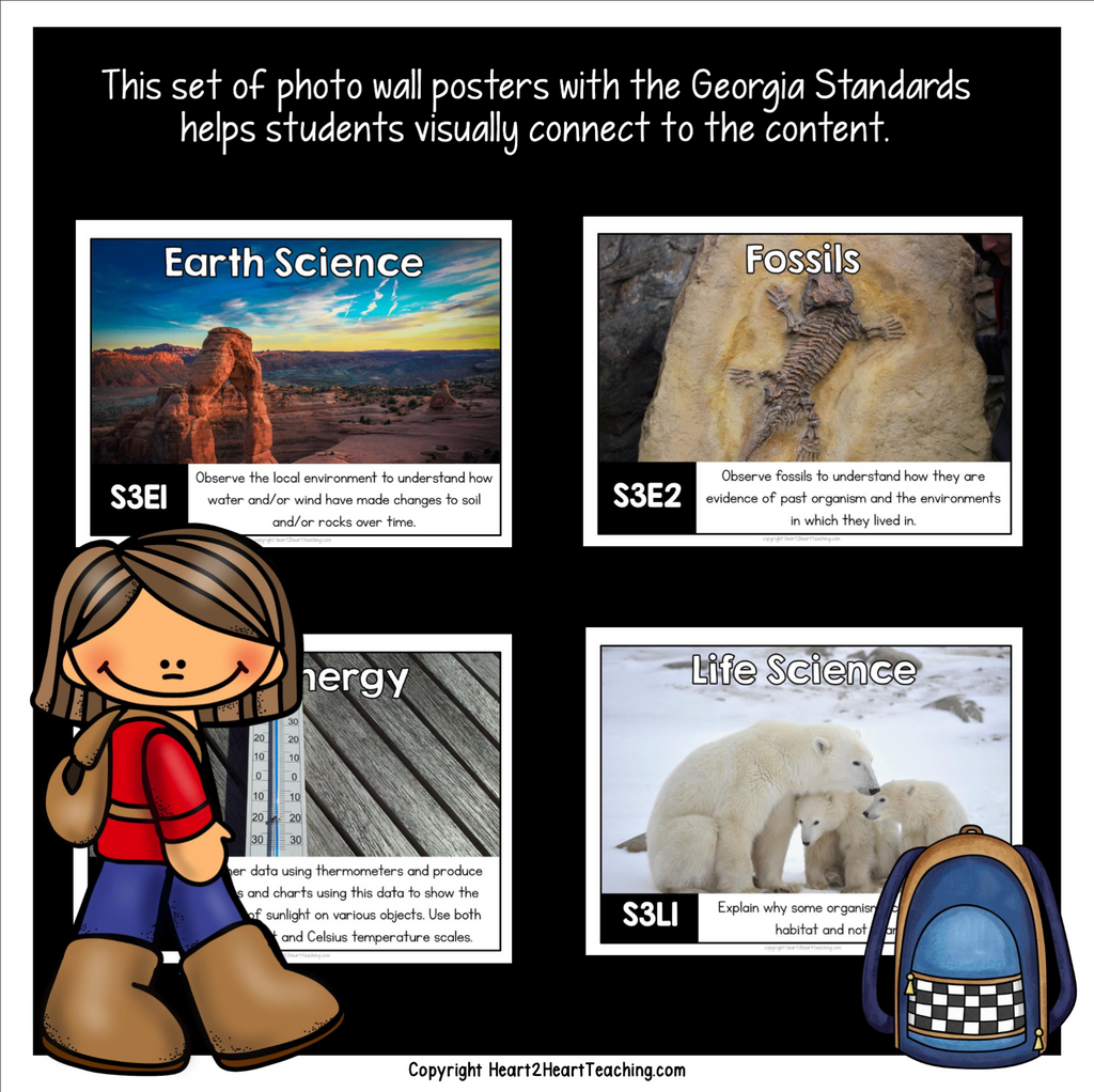 Georgia Standards of Excellence 3rd Grade Science Posters