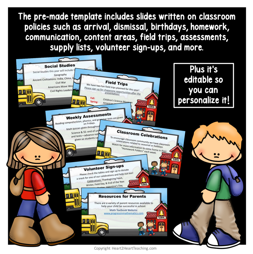 Open House PowerPoint: Meet the Teacher Night (Country Schoolhouse Design)