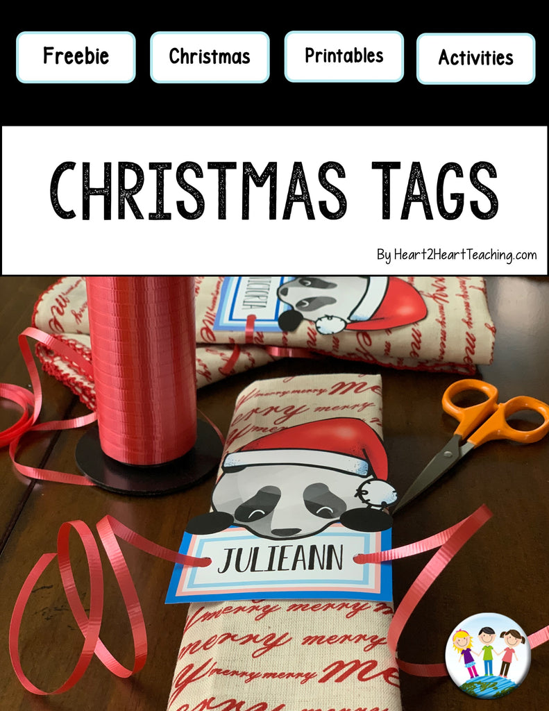 Christmas Gift Tags & Place Settings {Editable}