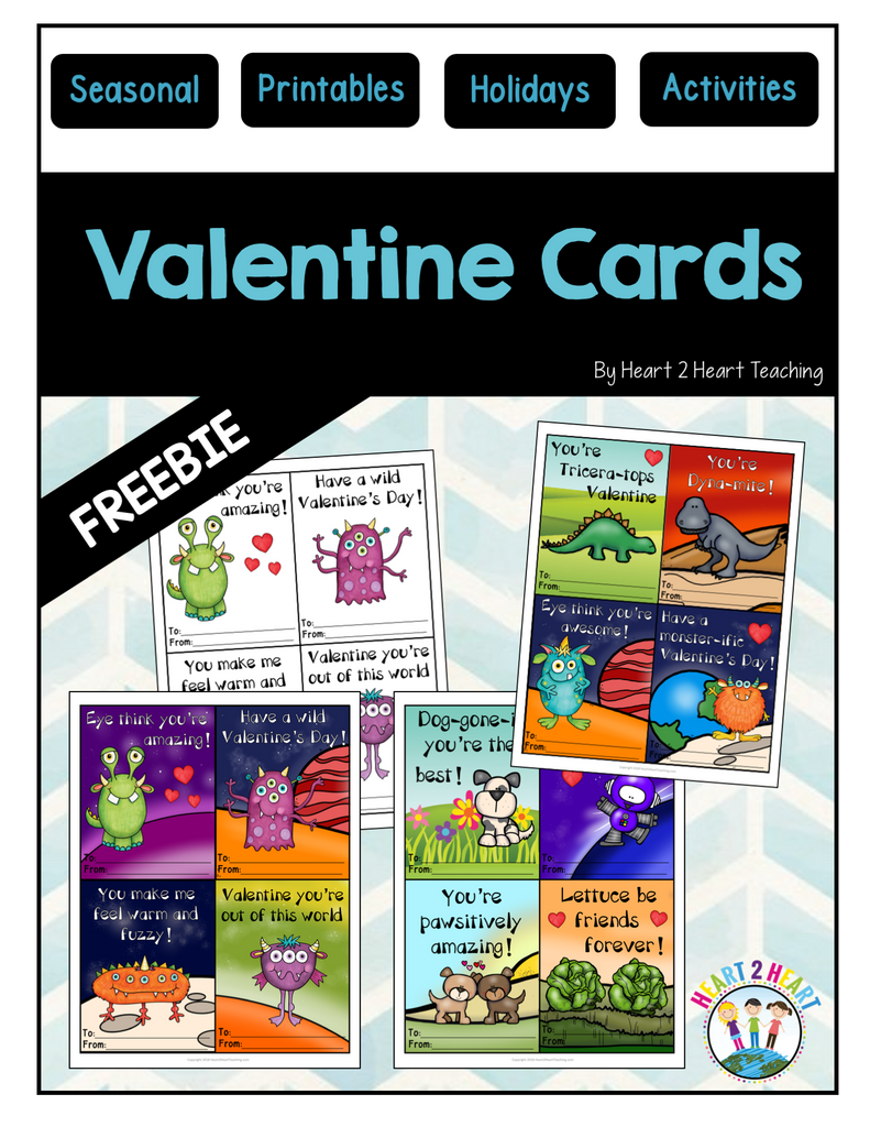 Happy Valentine's Day Cards Freebie