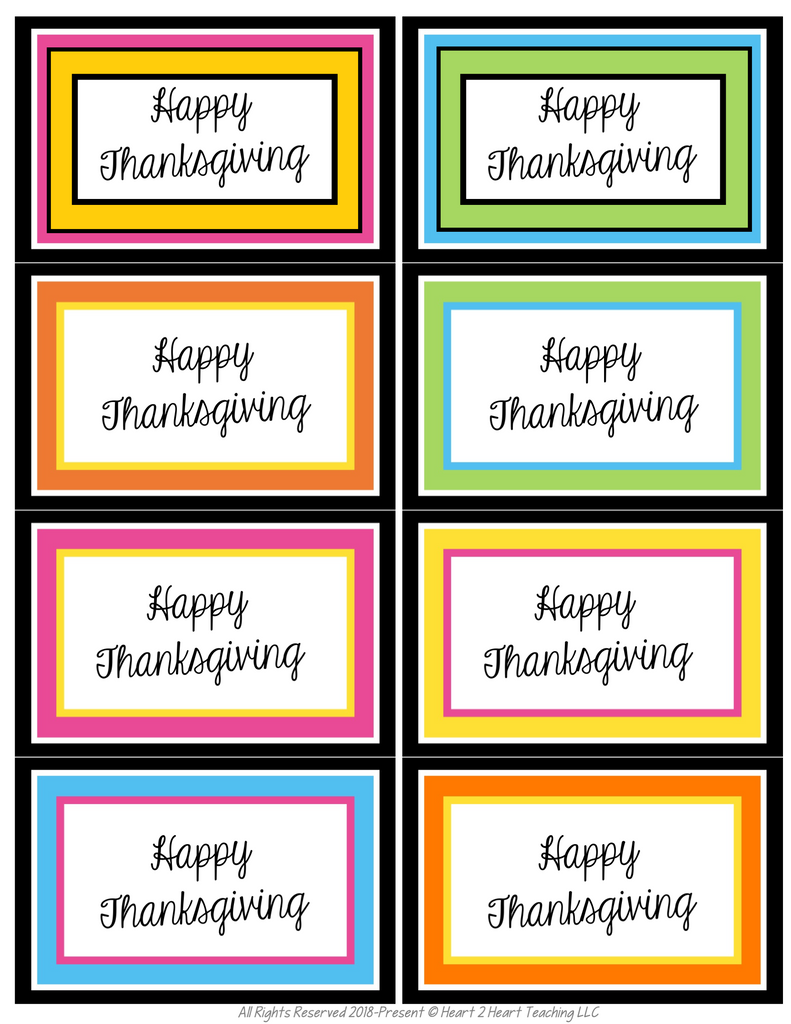 Thanksgiving Turkey Tags & Trivia Freebie