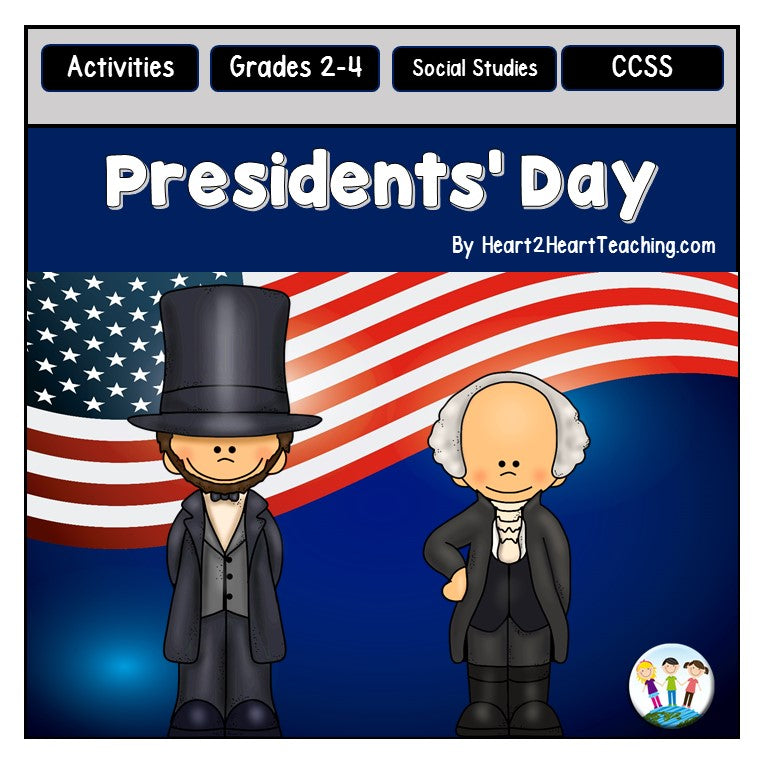 Presidents Day Activities Pack with Abraham Lincoln & George Washington