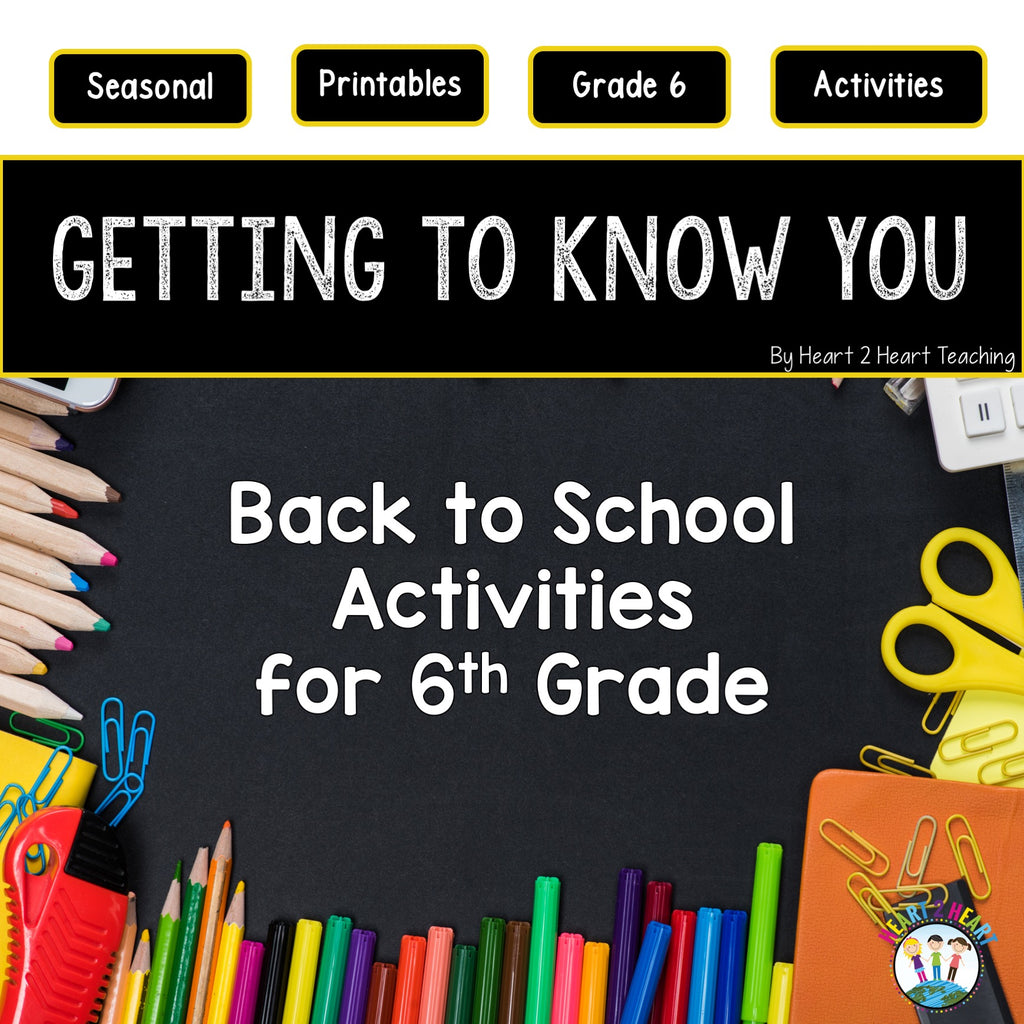 First Week of School Activities for 6th Grade